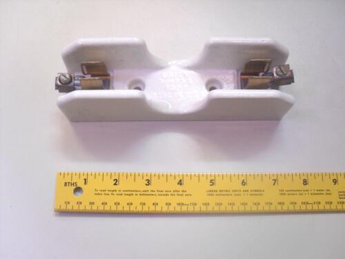 Fuse Holder Ceramic 600v volt Porcelain 60a amp 388-425, PN: 2521