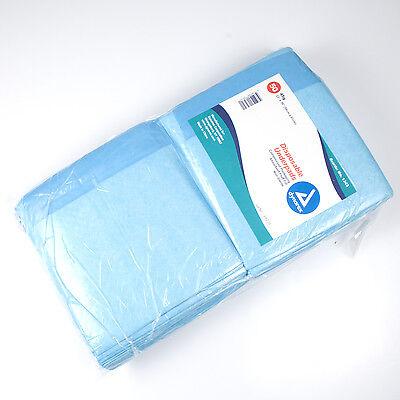 Blue Disposable Underpads (Chux), Large Size 23 X 36, 100/CS, 1343 (2x50)