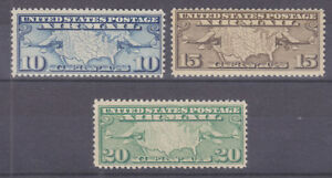 US-Sc-C7-C9-MNH-1926-1927-Air-Post-cplt-20c-w-gum-crease-otherwise-F-VF
