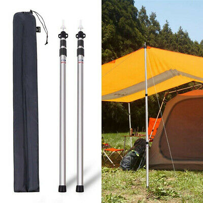 2Pcs 90-230cm Adjustable Universal Telescopic Tent Poles Awning Camping