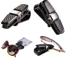 1X Car Auto Sun Visor Glasses Sunglasses Card Ticket Holder Clip Universal Black