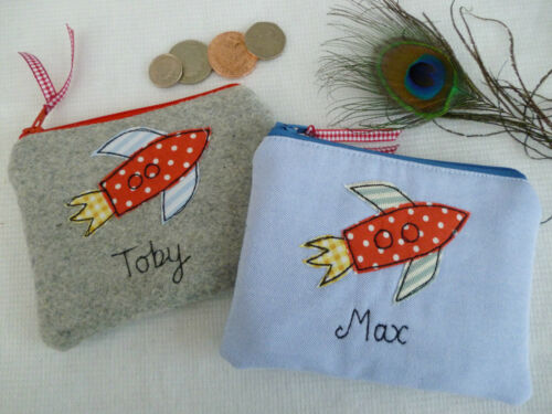Handmade Personalised Children/'s Boys Purse Wallet Choice of designs and words