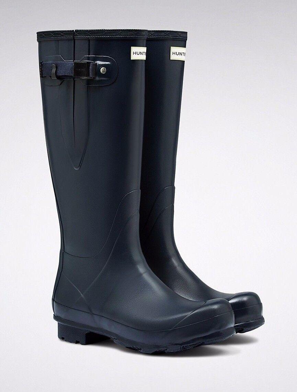 Hunter damen NAVY Norris Field Side Adjustable Wellingtons - UK3