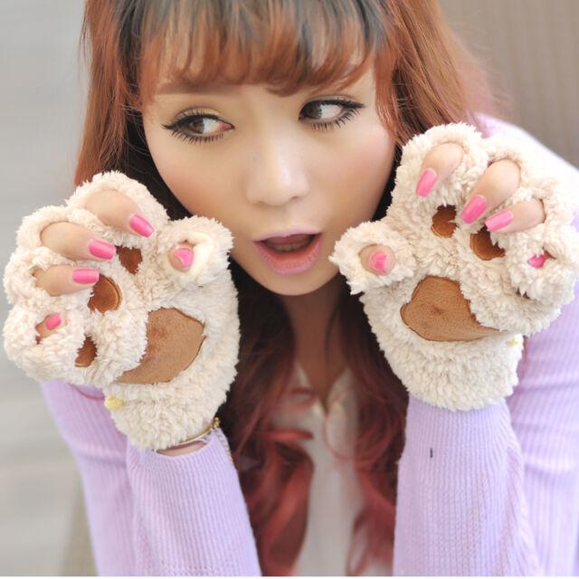 Kawaii Clothing Cute Ropa Gloves Cat Guantes Neko Animal Harajuku Japan Korea