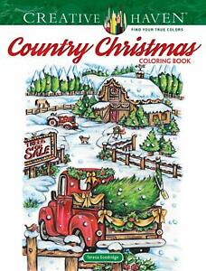 Creative Haven Country Christmas Coloring Book by Teresa ...