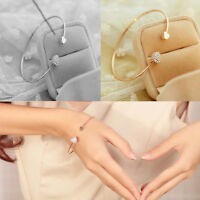 Bracelet cœur pour femme en plaqué or ou argenter cristal