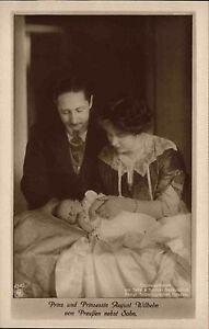 Adel-Monarchie-1910-Prinz-Prinzessin-August-Wilhelm-Preussen-nebst-Sohn-Baby