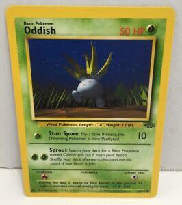 Jungle Set ODDISH NM 58//64 Common Pokemon Card Unlimited Edition