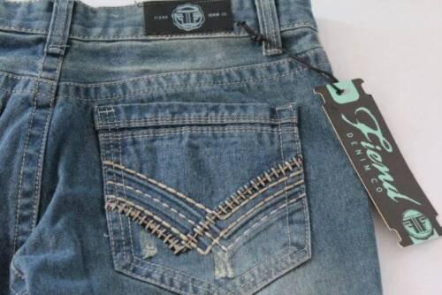 NEW Womens 5 Pocket Denim Blue Jeans 40 X 32 Distressed Worn Look Pants $42