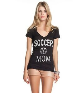 Soccer-Mom-Mother-Women-039-s-V-Neck-Mother-039-s-Day-Gift-Sports-Mom-Game-Day-T-Shirts