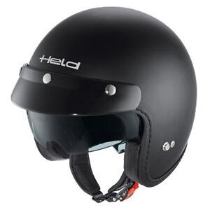 HELD-Black-Bob-Jethelm-Motorradhelm-schwarz-matt-Gr-M-57-58-mit-Sonnenblende