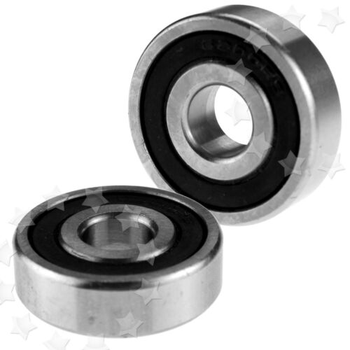 2pcs Cartridge Sealed Stainless Steel and Ceramic 2RS Bearings 6200 10x30x9mm