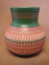 Native American Indian Hand Etched Pot by Mireille Gilmore! Pottery Vase