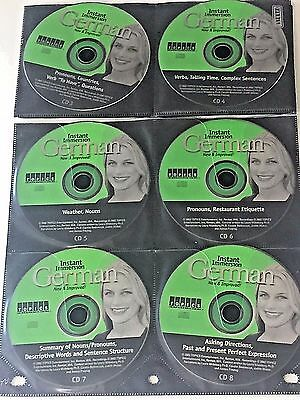 Instant Immersion German Language Learning CDs 3-8 Incomplete Set Topics Travel