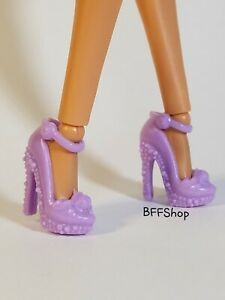 SHOES BARBIE DOLL FASHIONISTA YELLOW POM POM PUMPS HIGH HEEL ACCESSORY CLOTHING