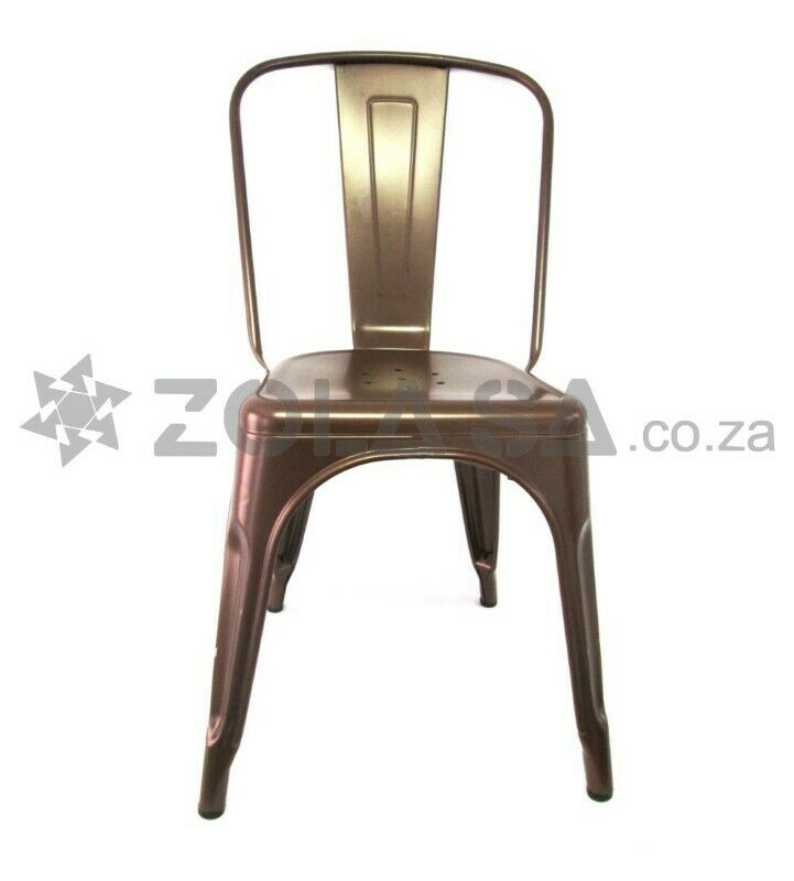 Tolix Metal Cafe Chair - Copper