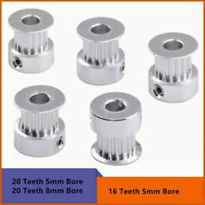10Pcs gt2 timing pulley 20 teeth bore 5mm 8mm for gt2 synchronous belt
