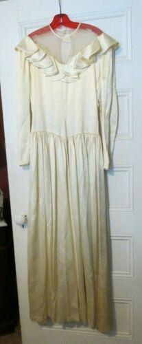 Vintage Silk Wedding Dress - 1920-1940