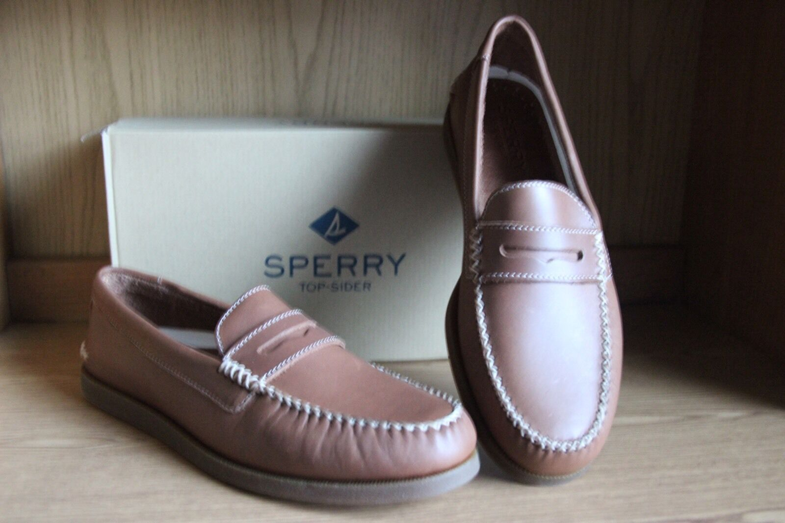 722fa49b7e2 Sperry Top Sider A o Wedge Penny Loafer Shoe Tan Men Size 12 ...