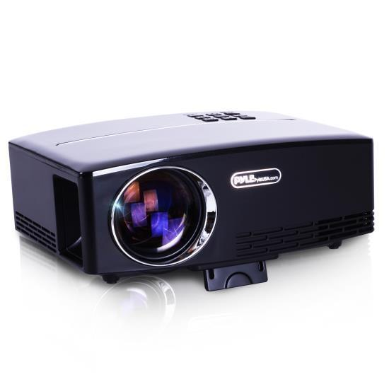 Compact Digital Projector, HD 1080p Support, Built-in Speakers, HDMI USB VGA