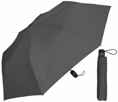"RainStoppers Rain//Shine Gray or Chocolate Brown 42/"" Arc Mini Auto-Open Umbrella"