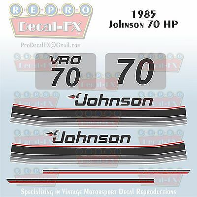 1985 Johnson 90 HP V4 Sea-Horse Outboard Reproduction 10 Pc Marine Vinyl Decals