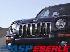 Kühlergrillcover Grilleinsätze Chrom Jeep Cherokee KJ
