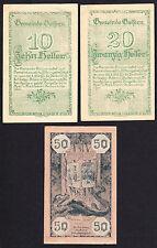 Goisern (OÖ) -Gemeinde- 10, 20 und 50 Heller (JP 247 I)