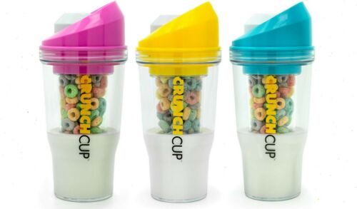 CrunchCup A Portable Cereal Cup No Bowl It/'s Cereal On The Go No Spoon