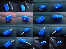 Calidad De Silicona 3 Botón Voltear Llavero Protector caso VW GOLF R Azul De Golf Marca 7