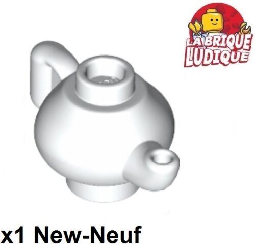 1x Minifig utensil théière thé Teapot tea tasse blanc//white 23986 NEUF Lego