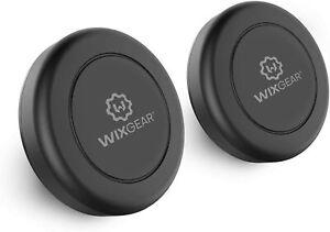 WixGear Flat Stick On Dashboard Magnetic Car Mount Holder For Smartphones 2 Pack
