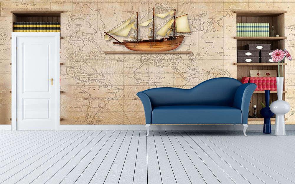 Travel Around World 3D Full Wall Mural Photo Wallpaper Printing Home Kids Decor