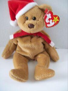 Ty Beanie Babies~4th Generation~1997 Holiday Teddy~Good Heart Tag~E1 ... 4816cbf100e6