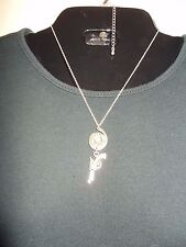 "38 Special Gun & Bullet(Federal)""Silver"" Necklace-Must See Free Ship"