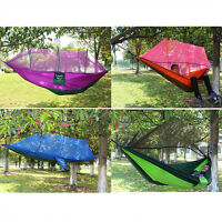 Double Hammock Tree 2 People Person Sleeping Bed Swing Outdoor W/mosquito Net Us
