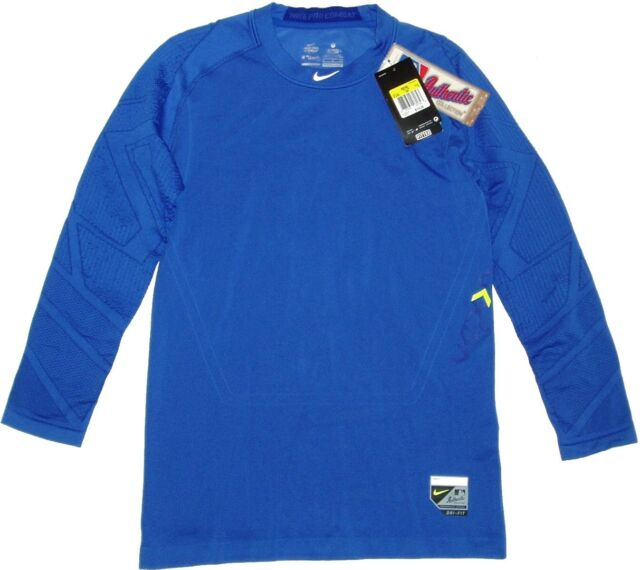 9cda9d712 Nike Pro Combat Men's Dri Fit Fitted Athletic Shirt Size SM Blue for ...