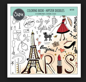 Image Is Loading SIZZIX COLORING BOOK HIPSTER DOODLES 661533 8 034