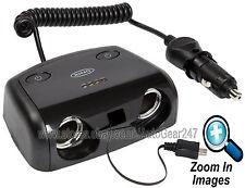 Car Van 12v Twin Cigarette Lighter Socket Adaptor Micro USB Charger RMS14