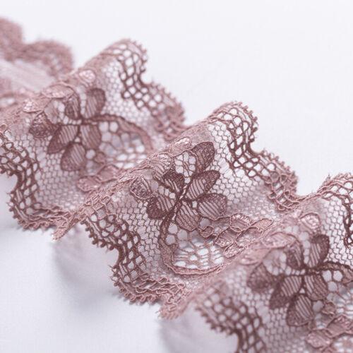 5Yards Elastic Bands Lace Trim Ribbon Bra Underwear Dress Sewing Supplies DIY