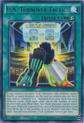 U.A Turnover Tactics Rare Yugioh Card SECE-EN089 Yu-Gi-Oh! Trading ...