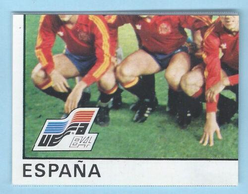 FIGURINA CALCIATORI PANINI EURO 84 RECUPERO ESPANA N.209 SQUADRA