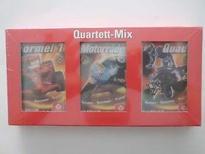 Quartett-Mix-Rennsport-Formel-1-Motorraeder-Quads-NEU-in-Folie