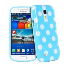 Lovely Blue & White Polka Dot TPU Case Cover for Samsung Galaxy S4 Mini i91