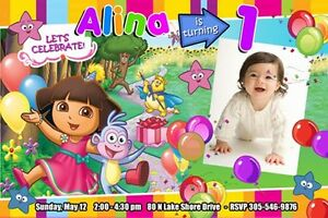 Dora birthday invites image collections invitation templates free dora the explorer birthday party invitation 1st custom invite diego image is loading dora the explorer filmwisefo