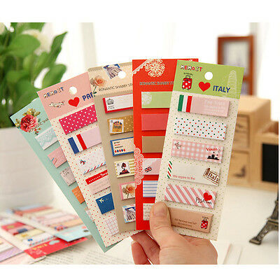 Office Post Bookmark Writing Marker Memo Flags Index Notepad Tab Sticky Notes gb