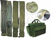 Ngt Insulated Tackle Carryall & 3+3 Made Up Padded Rod Holdall Carp Fishing Set