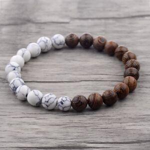 Fashion-Charm-8mm-Wood-Beads-Energy-Yoga-Reiki-Women-Men-Bracelets-Xmas-Gift