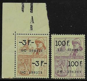 Belgium Stamps 3f 100f Fiscal Stamps Mnh Vf Ebay