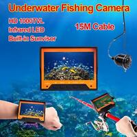 15m Professional Wearable Fish Finder Underwater Fishing Camera 4.3 Hd Monitor